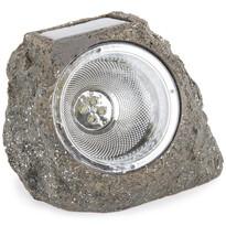 Koopman Zewnętrzna lampa solarna Stone light szaro-brązowy, 4 LED