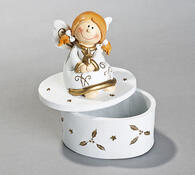 Sada vánočních andělíčků, 3 kusy, bílá