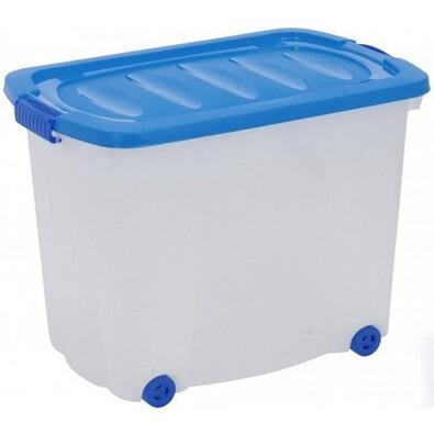 Kaiserhoff Úložný box pojízdný 60 l modrá