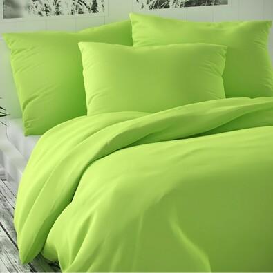 Saténové povlečení Luxury Collection světle zelená, 240 x 200 cm, 2 ks 70 x 90 cm
