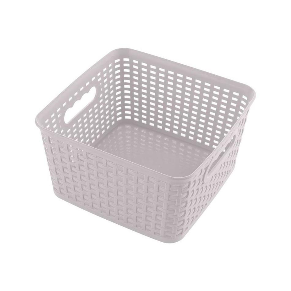 Štvorcový košík RATTAN CLASSIC 4,5 l, ružová