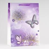 Dárková taška motýli velká 3 ks