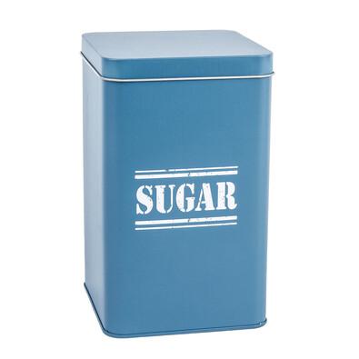 Pojemnik blaszany Sugar, ciemnoniebieski
