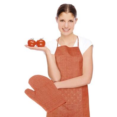 Zástěra s chňapkou Rita Květ oranžová