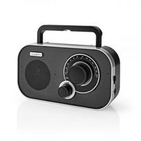 Nedis Prenosný rádioprijímač FM 1.5 W, strieborná/čierna