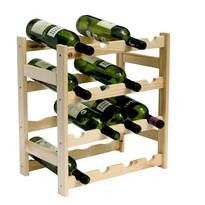 Regał drewniany na 16 butelek wina