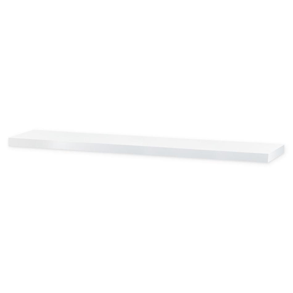Nástěnná polička Shelfy 120 cm, bílá, 120 cm