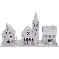 Dekoracja świąteczna Wieś, biały