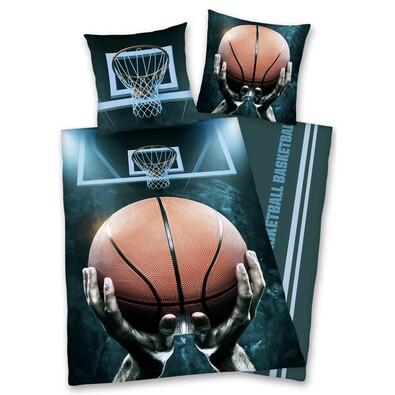 Pościel bawełniana Basketball, 140 x 200 cm, 70 x 90 cm