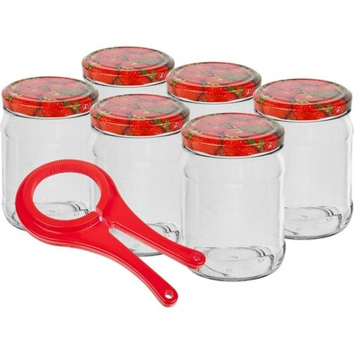 Sada zavařovacích sklenic 0,3l 6 ks + ZDARMA otvírák na sklenice