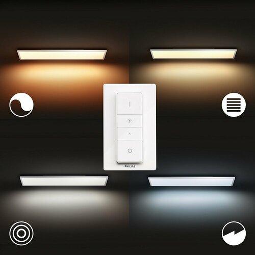 Philips Hue 32163/31/P6 stropné LED svietidlo Aurelle 120 x 30 cm, 55 W, biela