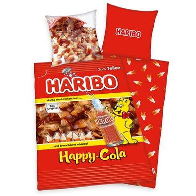 Bavlnené obliečky Haribo Happy Cola, 140 x 200 cm, 70 x 90 cm