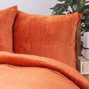 Povlečení Mikroplyš oranžová, 140 x 200 cm, 70 x 90 cm