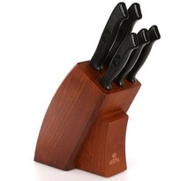 Altom 6-dielna sada nožov v drevenom stojane Onyks