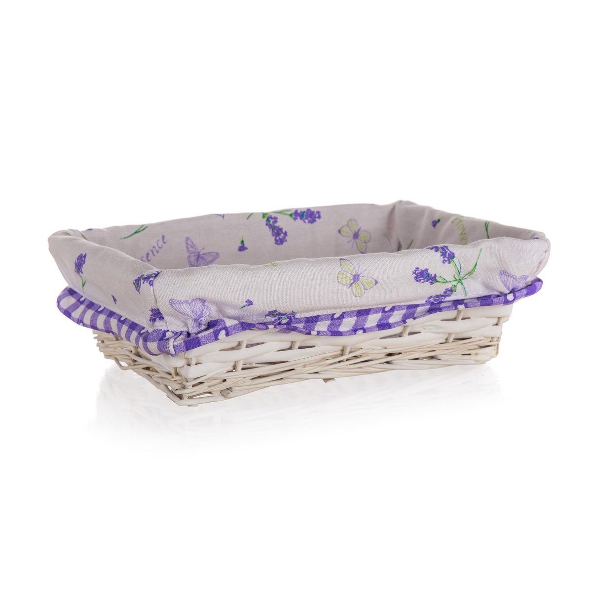 Home Decor Prútený košík Lavender, 26 x 18 x 7,5 cm