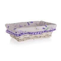Coș împletit Home Decor Lavender, 26 x 18x 7,5 cm