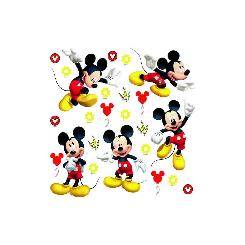 Samolepicí dekorace Mickey Mouse, 30 x 30 cm