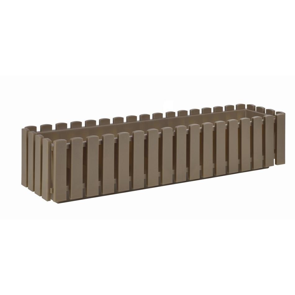 PLASTKON Truhlík FENCY plastový hnedo sivý - 75 x 18,5 cm