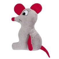 Tvarovaný vankúšik Myška, 45 x 30 cm