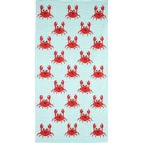 Prosop de plajă Crazy Crabs, 70 x 140 cm
