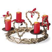 Proutěný věnec na 4 svíčky