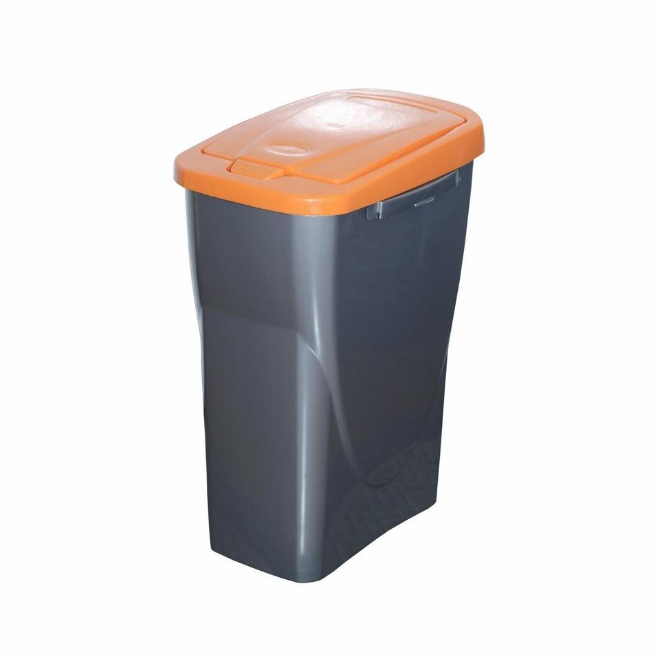Koš na tříděný odpad oranžové víko; 42x31x21 cm; 15 l; plast