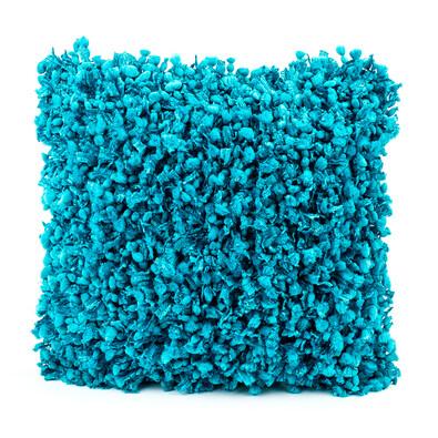 Povlak na polštářek Shaggy tyrkysová, 45 x 45 cm