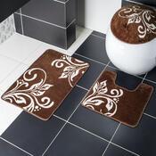 Sada koupelnových předložek Madera Marino hnědá, 45 x 70 cm + 45 x 45 cm