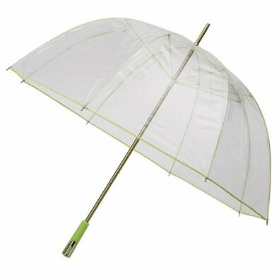 Průhledný deštník Princess světle zelený