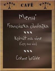 francúzské menu
