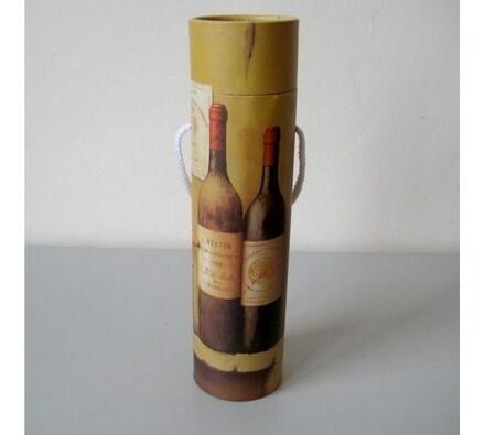 Tuba na víno, motiv vinná láhev