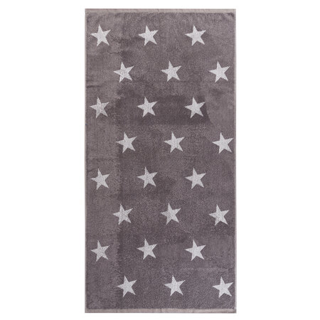Osuška Stars šedá, 70 x 140 cm