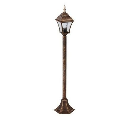 Venkovní stojací lampa Rabalux Toscana antická zla, zlatá, 14,5 x 10,6 x 20,5 cm