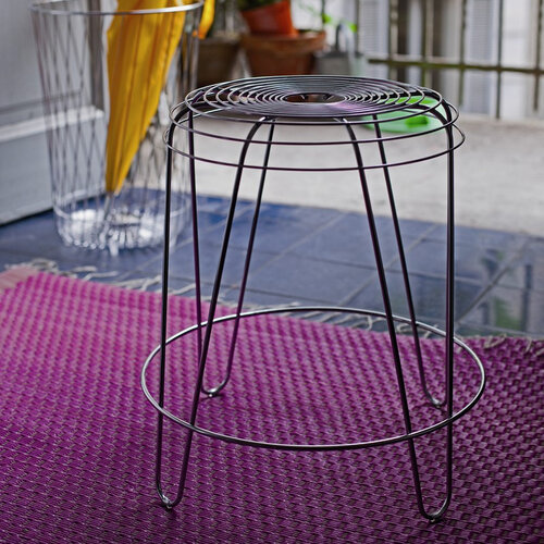 Stolička A Tempo 45 cm, strieborná