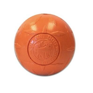 Žvýkací míček s otvorem pro pamlsky, oranžová