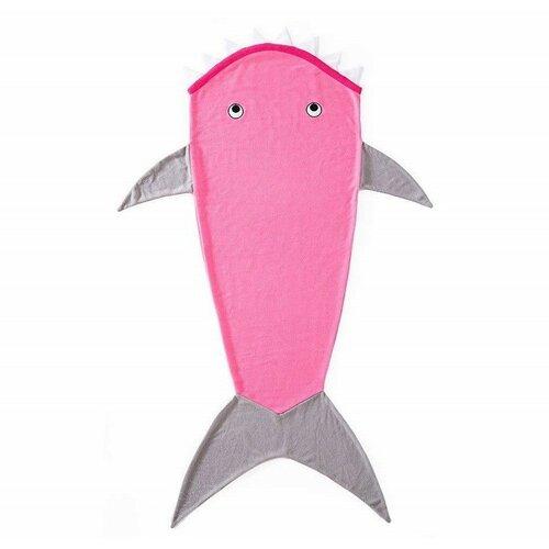 Domarex Dětská deka Žralok růžová, 145 cm