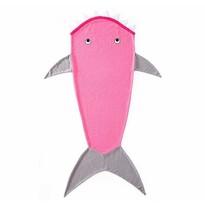 Domarex Koc dziecięcy Rekin różowy, 145 cm