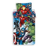Lenjerie de pat copii, din bumbac, Avengers brands, 140 x 200 cm, 70 x 90 cm