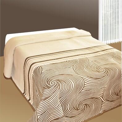 Přehoz na postel Espirales béžový, 140 x 220 cm