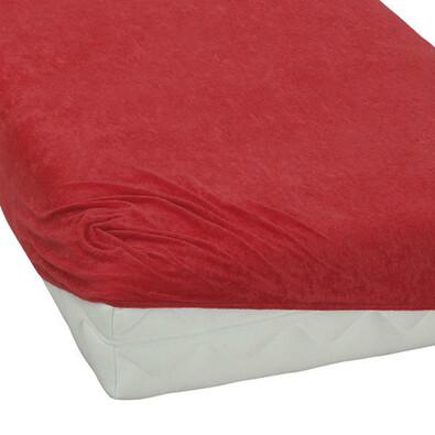 BedTex froté prostěradlo červená, 180 x 200 cm