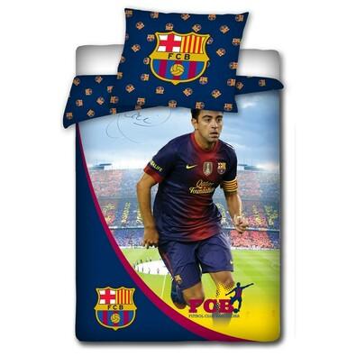 Bavlněné povlečení FCB Xavi s podpisem,140x200, 70 x 80 cm