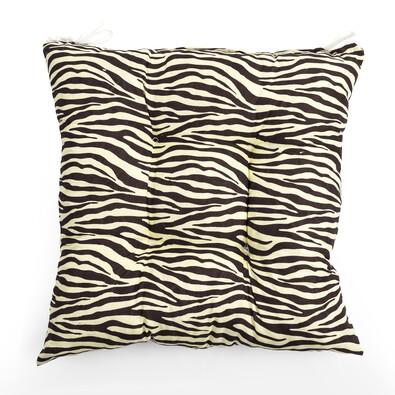 Sedák Zebra hnědá vanilka, 40 x 40 cm