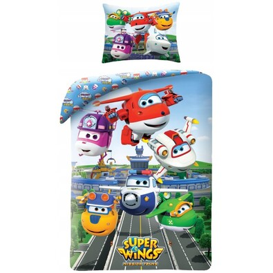 Lenjerie de pat Super Wings 5511, pentru copii , 140 x 200 cm, 70 x 90 cm