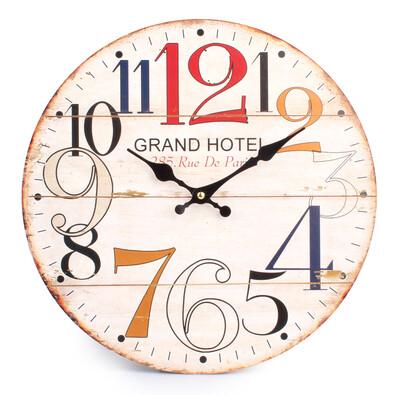 Nástěnné hodiny Barevná čísla