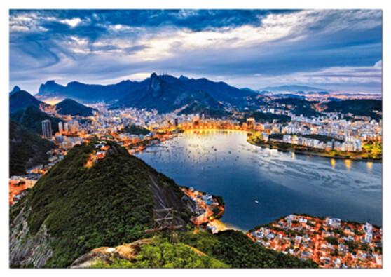 Puzzle Rio de Janeiro Educa, 2000 dílků, vícebarevná