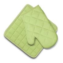 Set Domarex Ollie, mănușă și suport de bucătărie,verde
