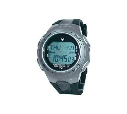 Náramkové hodinky DCF Multiband, černá + šedá