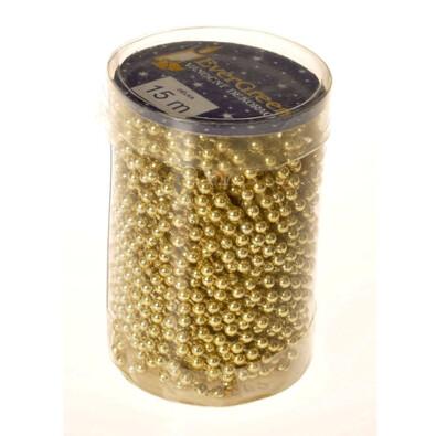 Řetízek korálky, zlatá