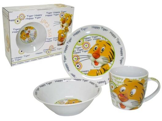 Toro Happy Tiger dětská jídelní sada