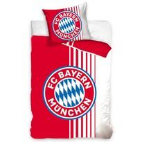 Bavlněné povlečení FC Bayern Mnichov Rote Streifen, 140 x 200 cm, 70 x 80 cm